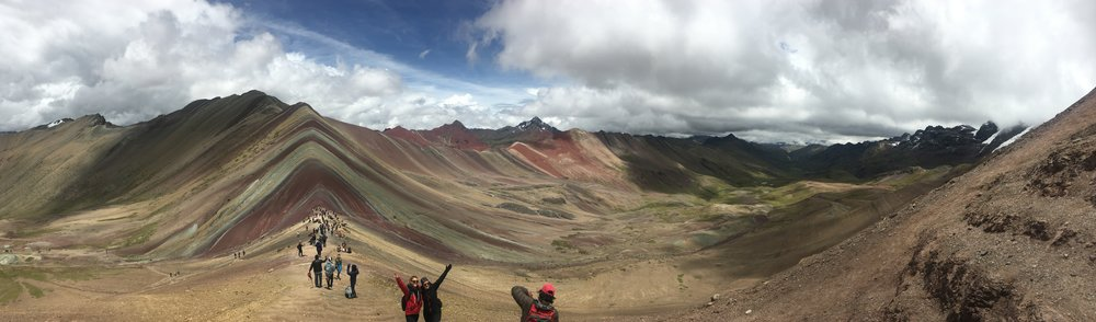 Rainbow Mountain Peru View from the Top of Cerro Vinicunca