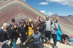 Enjoying the Rainbow Mountain Peru day trip